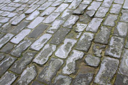 brick floor: piso de ladrillo  Foto de archivo