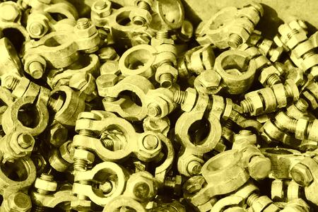 oxidize: oxidize nut fasteners piling up