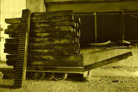 sludge: giant screw full of sludge piled up together Stock Photo
