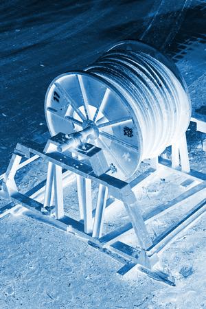 holgaz�n: alambre de acero tambor de cable de inactividad en una f�brica