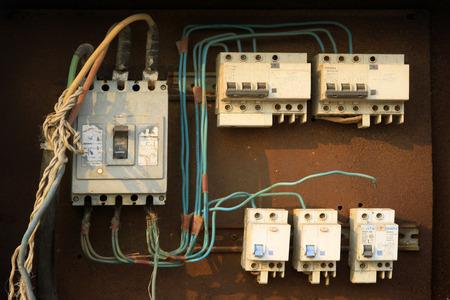 meter box: Simple electric meter box, closeup of photo