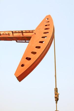 crank: Crank balanced beam pumping unit parts, closeup of photo Editorial