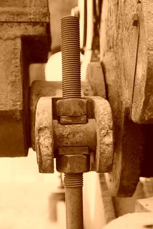nostalgia: nostalgia of mechanical parts in a factory Stock Photo