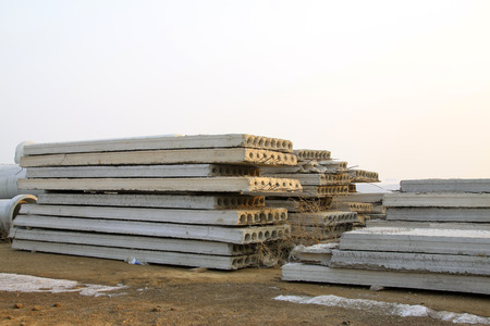 precast: Cement concrete precast slab, closeup of photo Stock Photo
