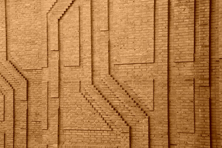 progressive art: texture on the wall, closeup of photo