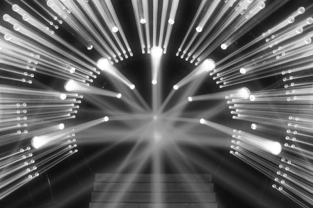 stage decoration abstract: stage lighting effect on the stage Stock Photo