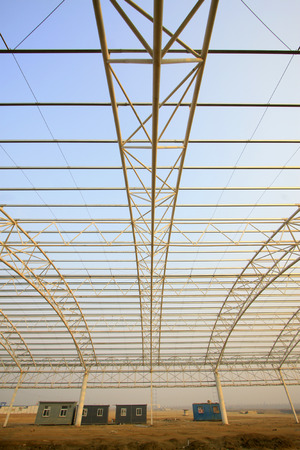 steel structure: steel structure landscape in a factory Stock Photo