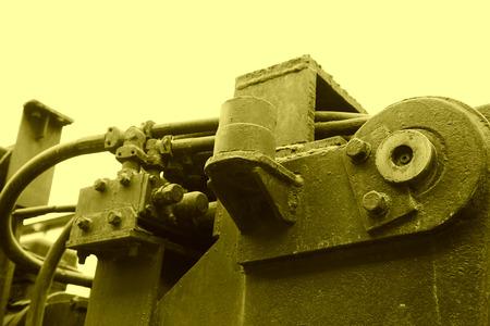 sludge: scrap metal parts in a factory Stock Photo