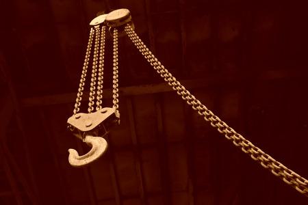 crane hook in the darkness background