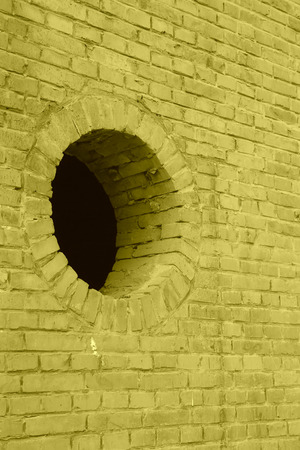 air hole: air hole on the wall in a factory Stock Photo