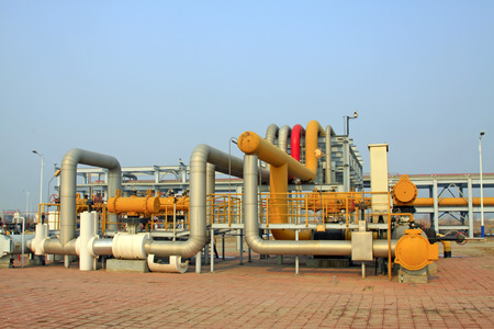 crude: crude oil processing and transmission equipment, closeup of photo