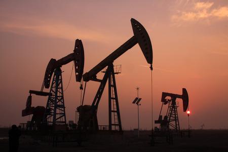 crank balanced beam pumping unit in a oilfield, China