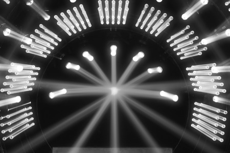 lighting effect: stage lighting effect on the stage Stock Photo