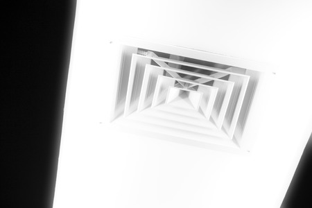 vents: air hole on the ceiling in a factory
