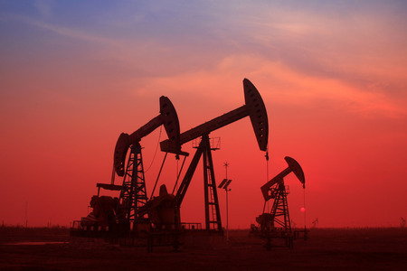 mineral oil: crank balanced beam pumping unit in a oilfield, China