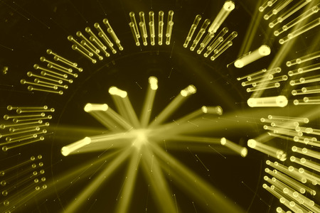 stage lighting: stage lighting effect on the stage Stock Photo