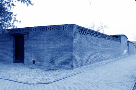architectural style: gray walls, traditional Chinese architectural style