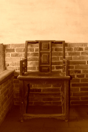 rural areas: Chinese traditional furniture -- fauteuil, in Chinese rural areas Editorial