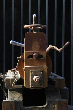 crank: Oxidation rust Machinery and equipment - crank, closeup of photo Stock Photo