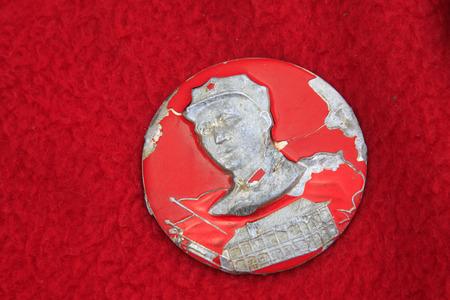 mao: Chairman MAO zedong badge, closeup of photo