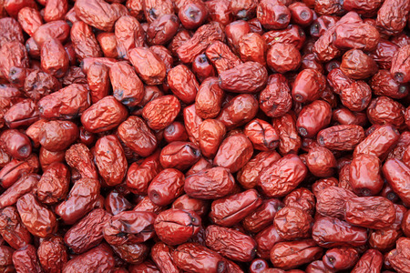 ''close up'': Close up of red dates Stock Photo