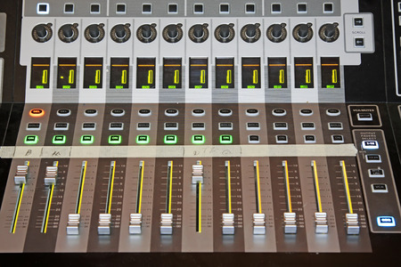 operating key: Audio equipment knob, closeup of photo