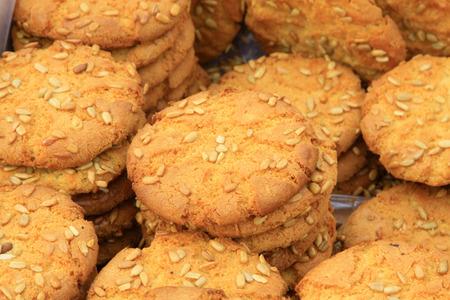 impurities: closeup of photo, Cookies in a shop