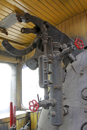 componentes: componentes mec�nicos antiguos. Foto de archivo