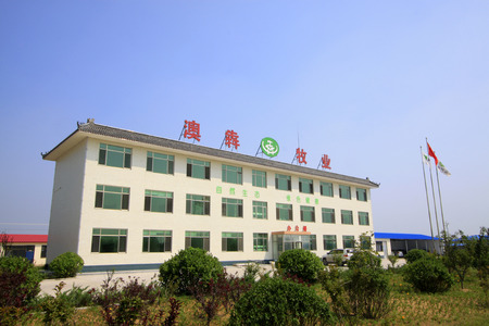 dairy farming: LUANNAN COUNTY - AUGUST 28: Aoben dairy farming Co., LTD. Office buildings, August 28, 2015, Luannan County, Hebei Province, China.