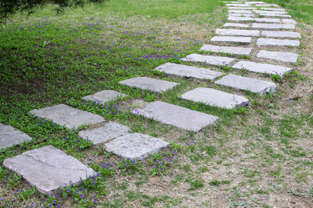 stone path: Stone path in the park, closeup of photo