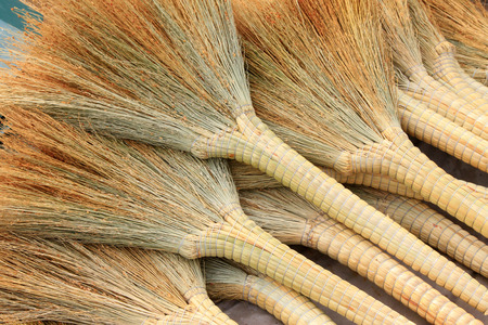commodities: whisk broom, closeup of photo Stock Photo