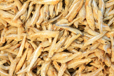close up of small dried fish