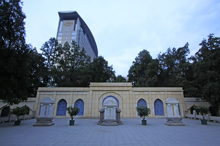 reverence: Shijiazhuang - April 27: kotnis memorial, north China military martyrs cemetery, on April 27, 2015, shijiazhuang city, hebei province, China Editorial