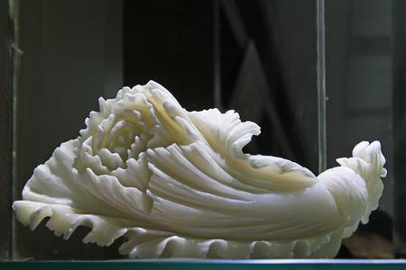 Jade cabbage sculpture, closeup of photo