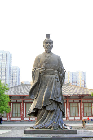 restore ancient ways: Shijiazhuang - April 29:  ancient Chinese characters statue in the park, on April 29, 2015, shijiazhuang city, hebei province, China