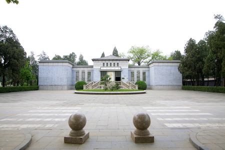 reverence: Shijiazhuang - April 28: martyr memorial hall in north China military martyrs cemetery, on April 28, 2015, shijiazhuang city, hebei province, China