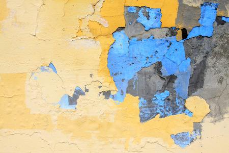 craze: Mottled walls, closeup of photo Stock Photo