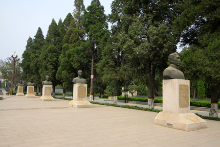 martyr: Shijiazhuang - April 28: martyr statue in the north China military martyrs cemetery, on April 28, 2015, shijiazhuang city, hebei province, China