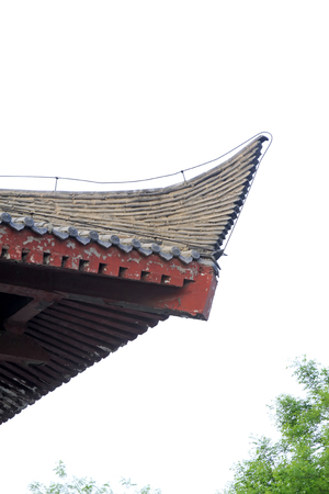 eaves: ancient Chinese eaves, closeup of photo