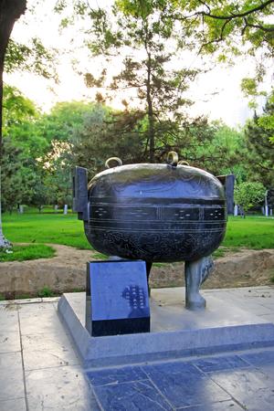 ritual: Traditional Chinese bronze ritual vessels, closeup of photo