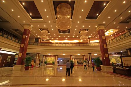 droplight: Shijiazhuang city - April 27: China hotel lobby architecture, April 27, 2015, shijiazhuang city, hebei province, China