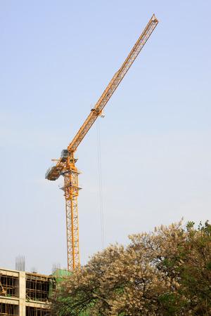 tower crane: Tower crane at construction sites, closeup of photo