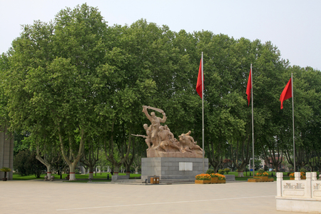 north china:  fighter sculpture in the north China military martyrs cemetery Stock Photo