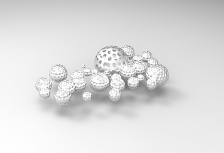 hollow: 3D hollow metal ball, computer generated images Stock Photo