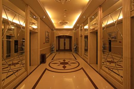 droplight: corridor decoration in a hotel, closeup of photo