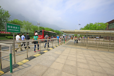 deceleration: Jiaozuo city - May 2: Transit bus station in yuntai mountain scenic area, on May 2, 2015, jiaozuo city, henan province, China.