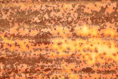 color distribution: Oxidation of rusty steel plate, closeup of photo Stock Photo