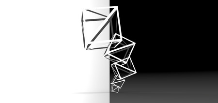 rendering: cube stacked rendering Stock Photo