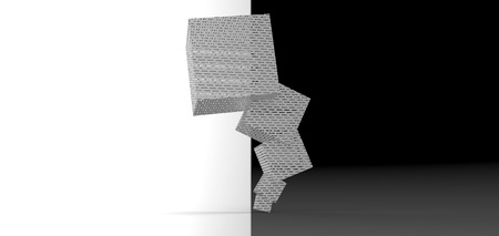stacked: cube stacked rendering Stock Photo