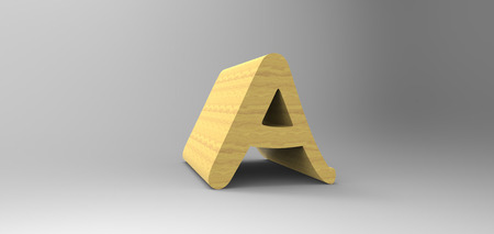 3D font in gray background, computer generated images Stock Photo